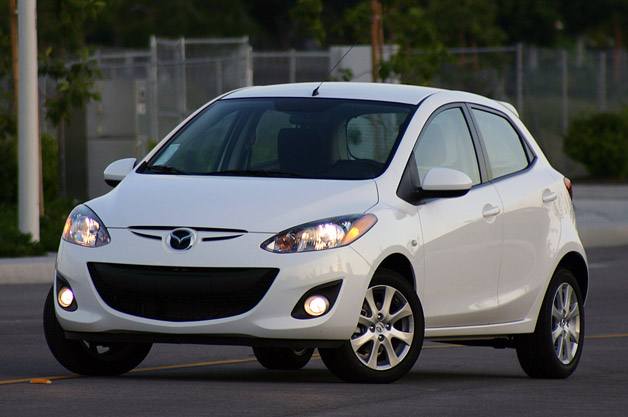 Mazda2 - White - front three-quarter view