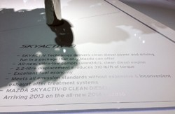 Mazda Skyactiv-D placard