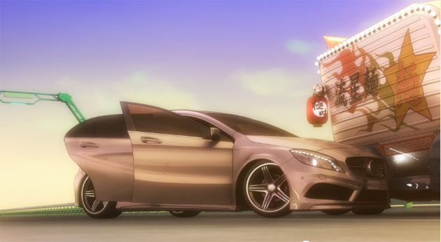 Mercedes-Benz A-Class anime video screencap