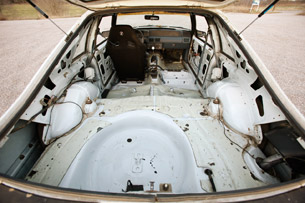 Project Ugly Horse from the rear hatch