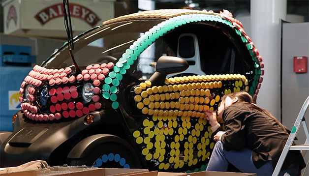Renault Twizy covered in macarons