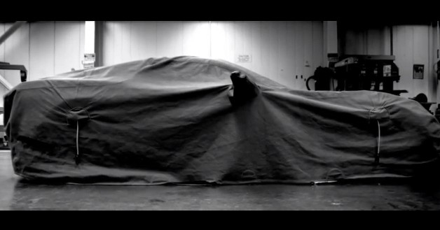 2014 Chevrolet Corvette under cover - teaser trailer screencap