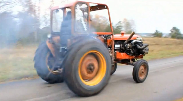 Volvo-powered tractor is only a thing for roostertails