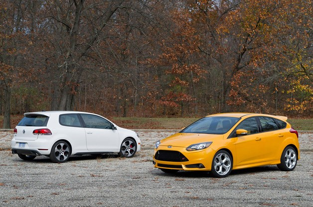 VW Golf GTI, Ford Focus ST