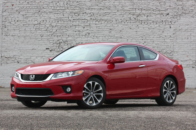 2013 Honda Accord Coupe - front three-quarter view, red