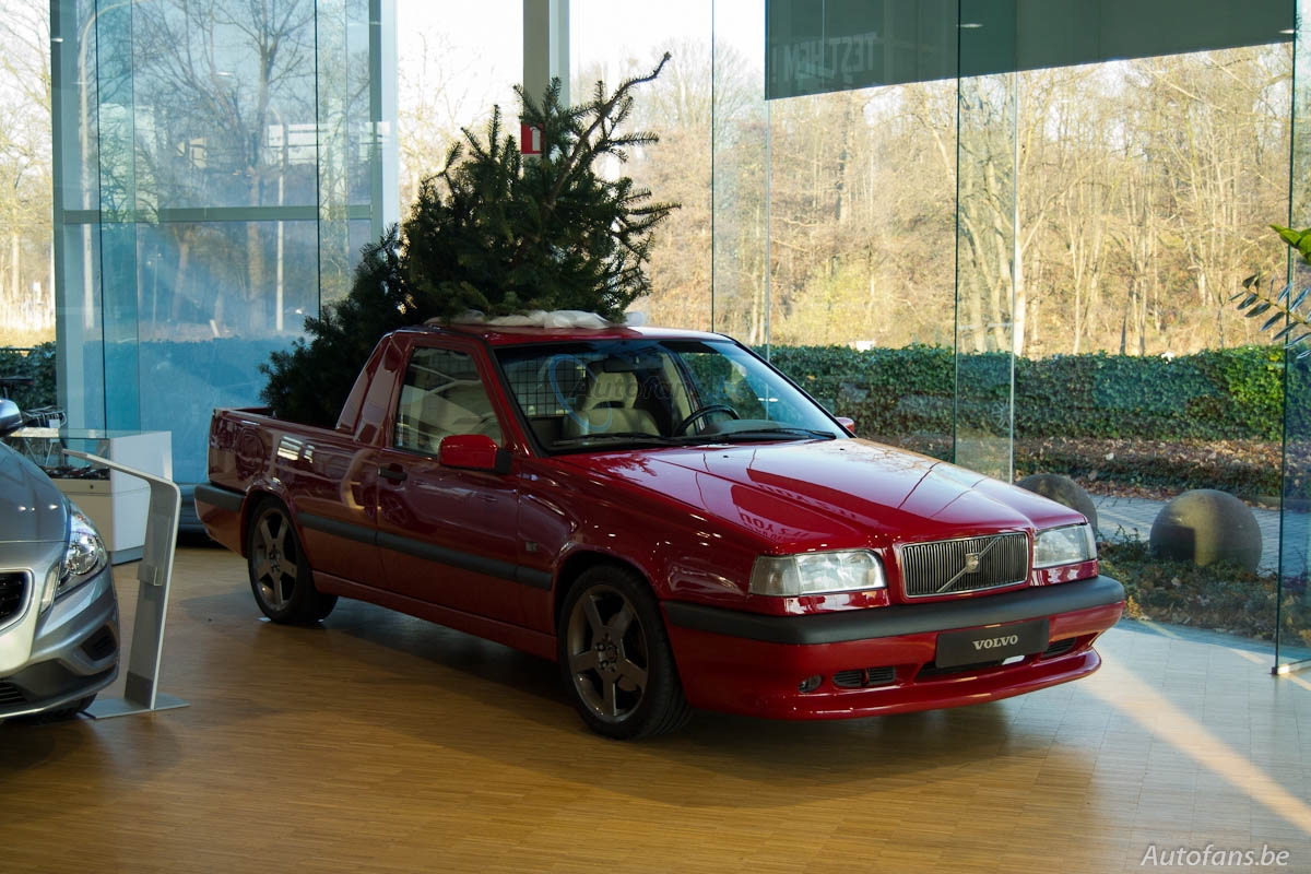 Volvo 850 T5 R pickup conversion is ready for a cool yule - Autoblog
