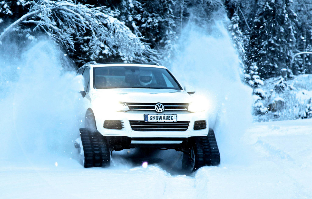 Volkswagen Sweden Builds A Touareg Tank To Tackle Winter