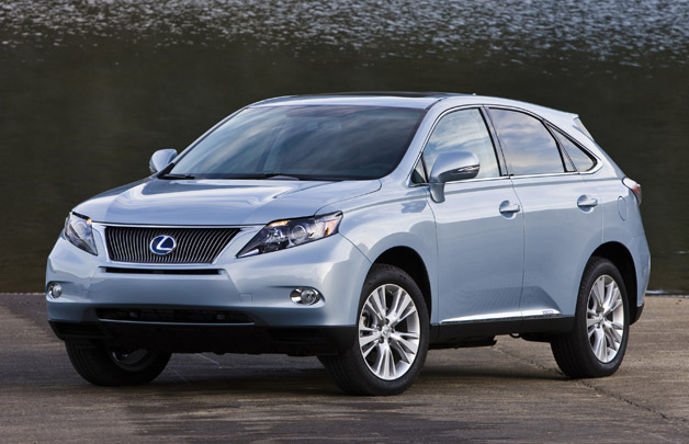 2010 Lexus RX hybrid - front three-quarter view