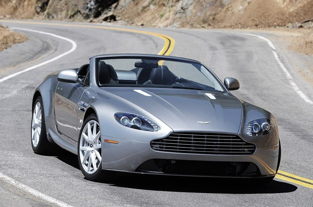 2012 Aston Martin V8 Vantage - top down on the road