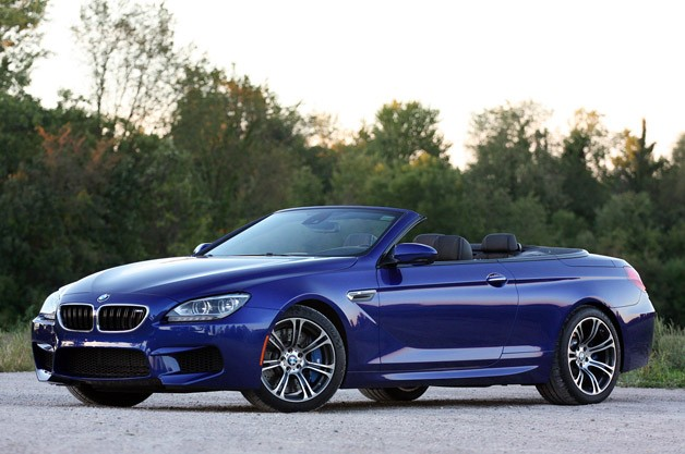 2012 BMW M6 Convertible - front three-quarter view, top down