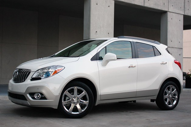 2013 Buick Encore - front three-quarter view, white