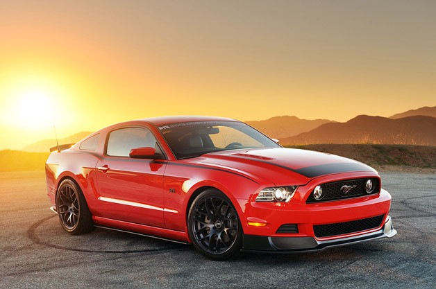 2013 Ford Mustang RTR - front three-quarter view at sunset