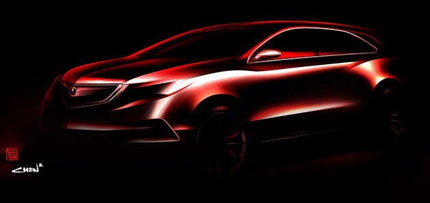 2014 Acura MDX teaser rendering
