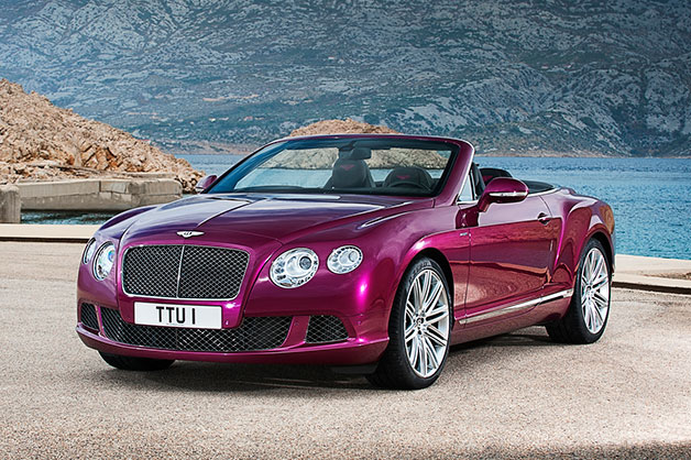 2013 Bentley Continental GT Speed Convertible - front three-quarter view, purple