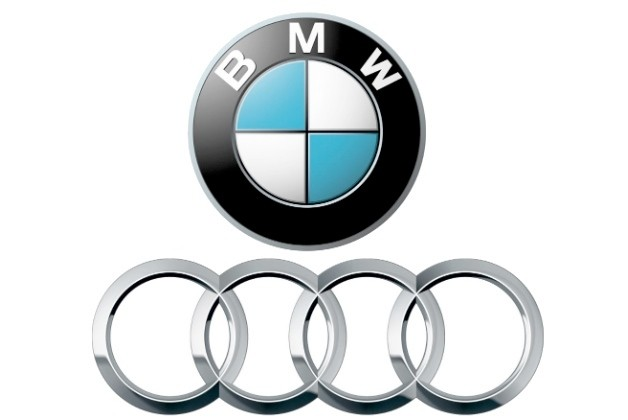 BMW and Audi logos