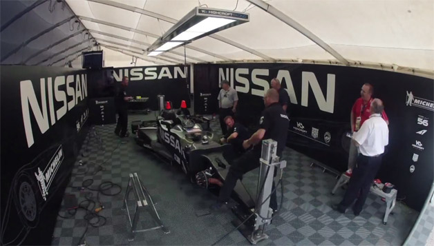 Nissan DeltaWing in the paddock