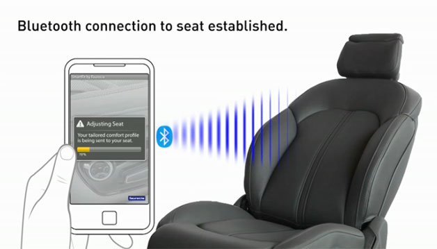 Faurecia's Bluetooth-enabled smart driver's seat