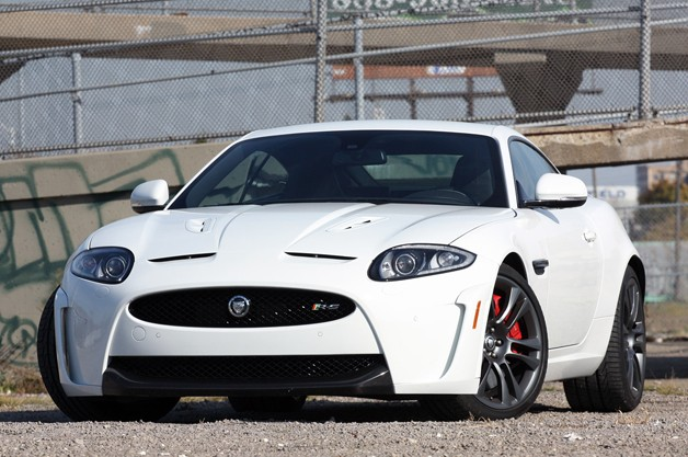 Jaguar XKR-S - front three-quarter view, white