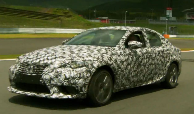 2014 Lexus IS prototype being driven by Jay Leno