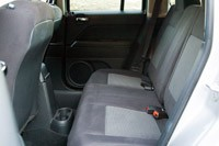2012 Jeep Patriot rear seats