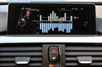 2013 BMW ActiveHybrid 3 fuel economy display