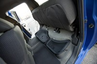2012 Nissan Frontier Crew Cab 4x4 folded rear seat storage