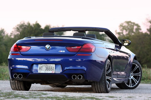 2012 BMW M6 Convertible rear 3/4 view