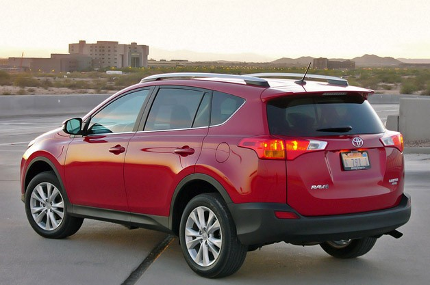 2013 Toyota RAV4 rear 3/4 view