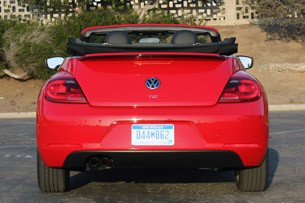 2013 Volkswagen Beetle TDI Convertible rear view
