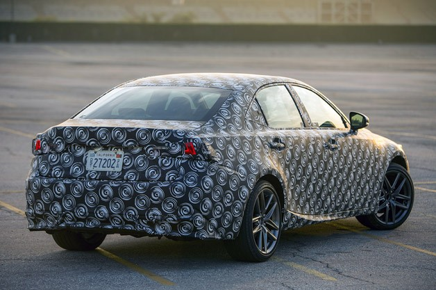2014 Lexus IS Prototype rear 3/4 view