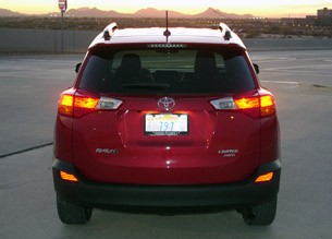 2013 Toyota RAV4 rear view
