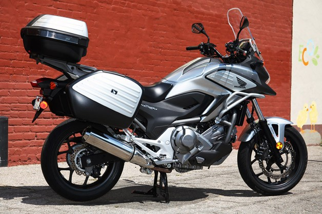 2012 Honda NC700X rear 3/4 view