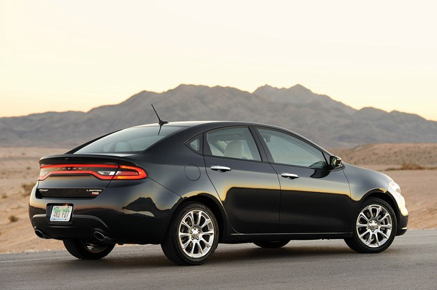 2013 Dodge Dart rear 3/4 view