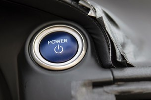 2014 Lexus IS Prototype start button
