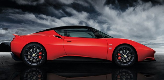 2013 Lotus Evora 'Sports Racer' - red - profile view