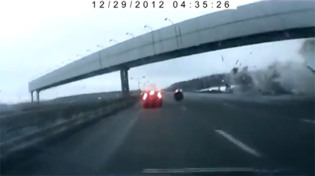 Moscow plane crash video - screencap