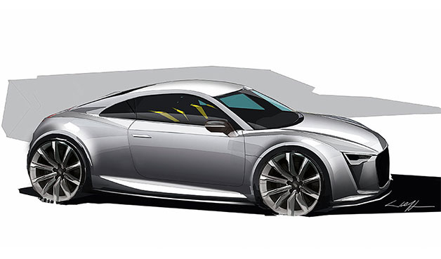 Audi TT rendering