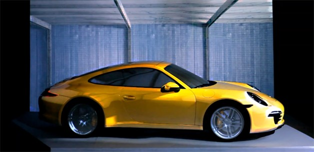 Porsche 911 Projection Video