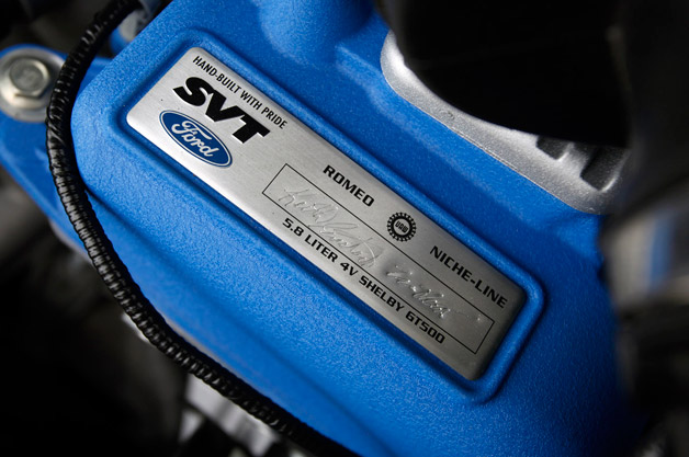 Shelby GT500 Engine Tag