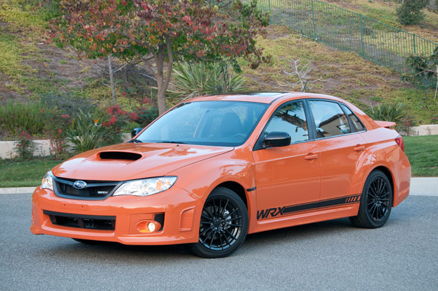 2013 Subaru WRX Special Edition - front three-quarter view, orange