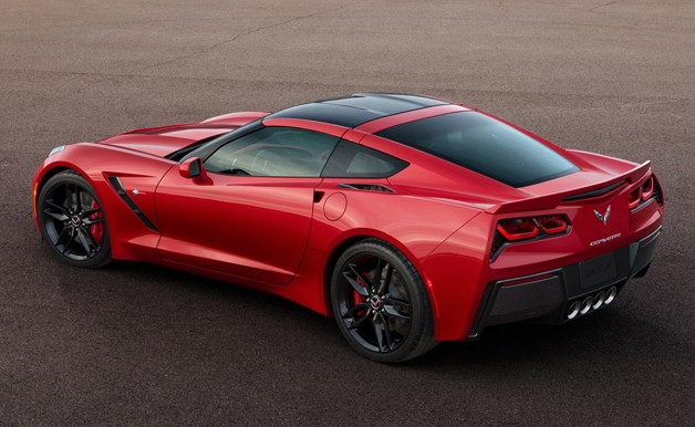 2014 Chevrolet Corvette Stingray - rear, red