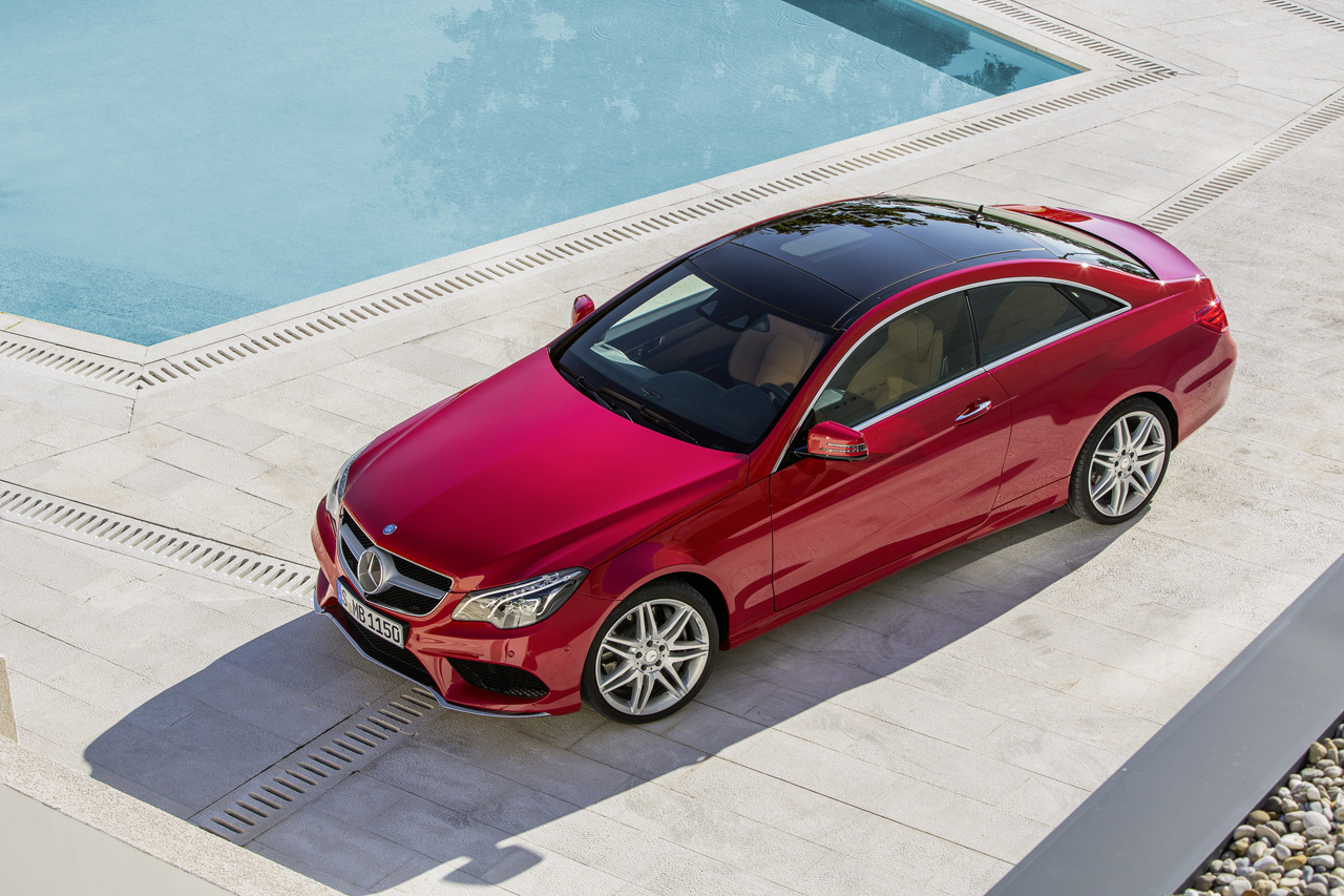 Mercedes benz reveals freshened 2014 e class coupe and for Mercedes benz coupes list