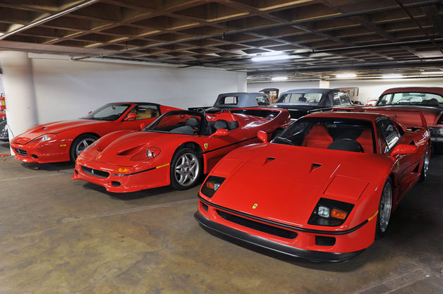 Ferrari models in Petersen Museum Vault