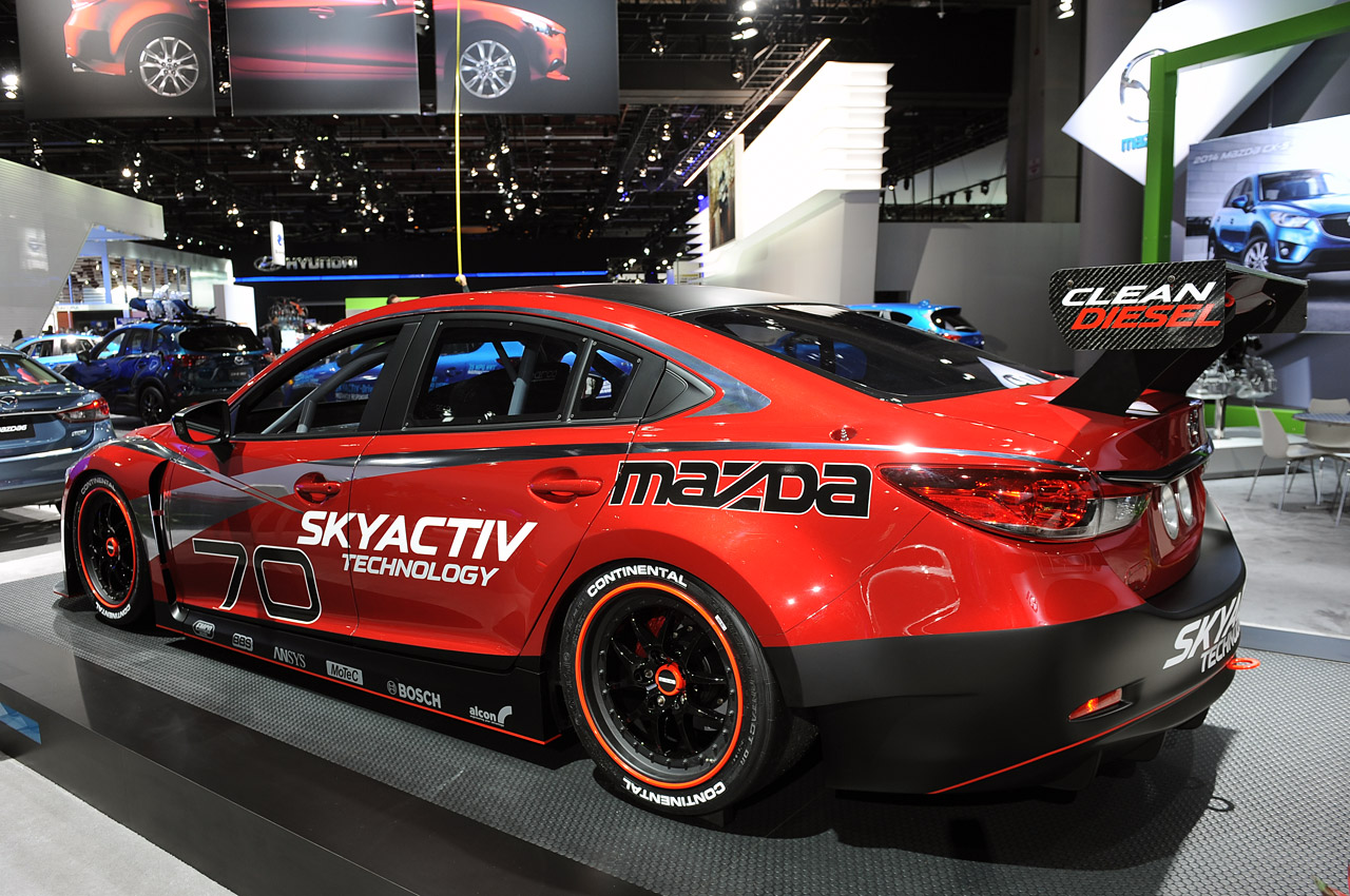 mazda6 skyactiv d racecar detroit 2013 photo gallery. Black Bedroom Furniture Sets. Home Design Ideas