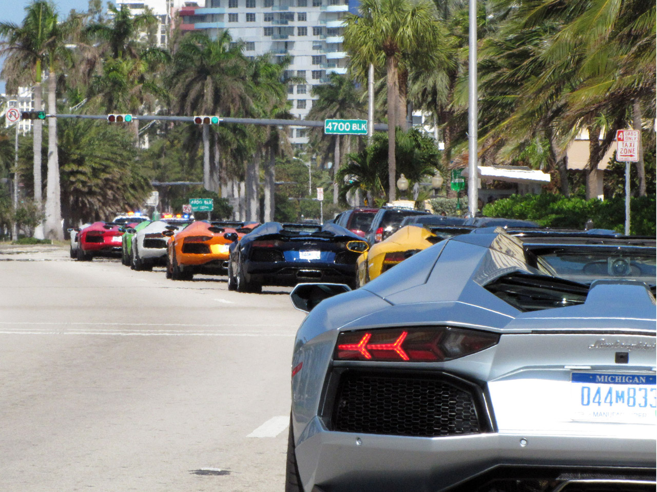Lamborghini Invades Miami With Aventador Parade High