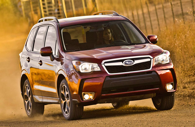 2014 Subaru Forester on a dirt road