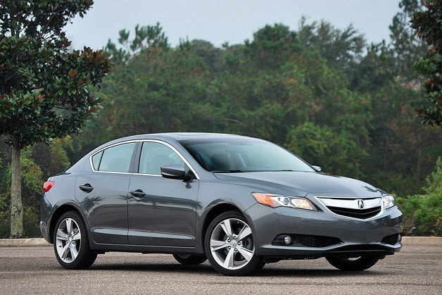2013 Acura ILX 2.4 - front three-quarter view, charcoal