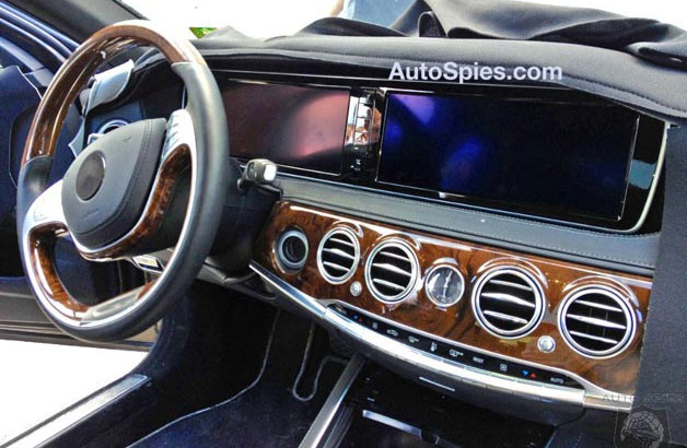 2014 Mercedes-Benz S-Class interior caught in spy shots