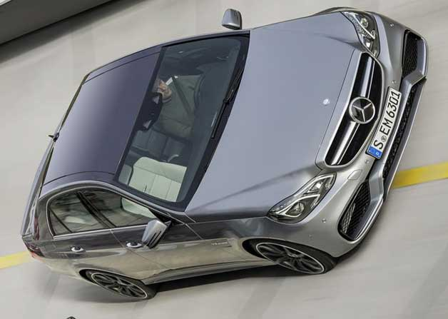 2014 Mercedes-Benz E63 AMG sedan on track - angled photo