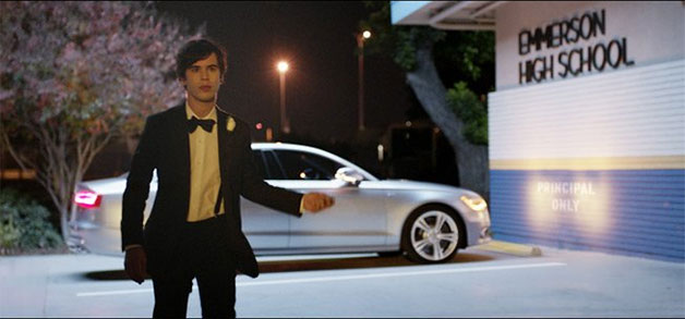 Audi S6 Super Bowl commercial screencap - high school prom night